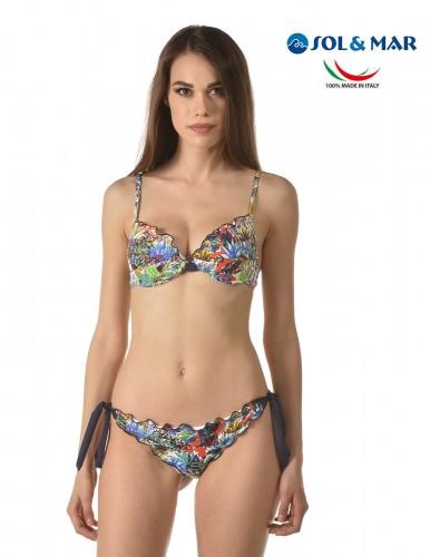 Bikini balconcino Mod. Candy fant. blue