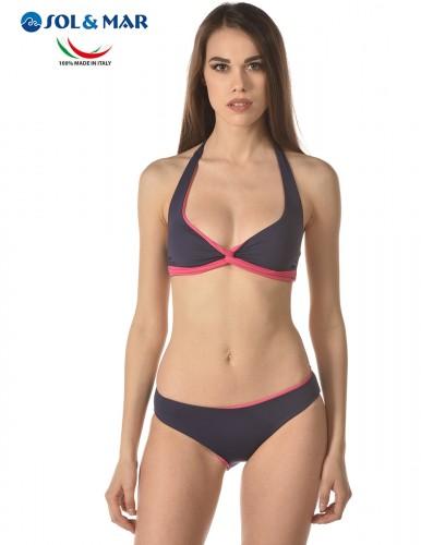 Bikini triangolo Mod. Sabry col. blu/elisir