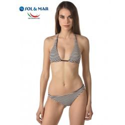 Bikini triangolo Mod. Rosita righe piquet